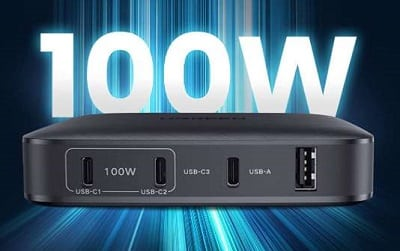 station de charge USB C Power Delivery 100W
