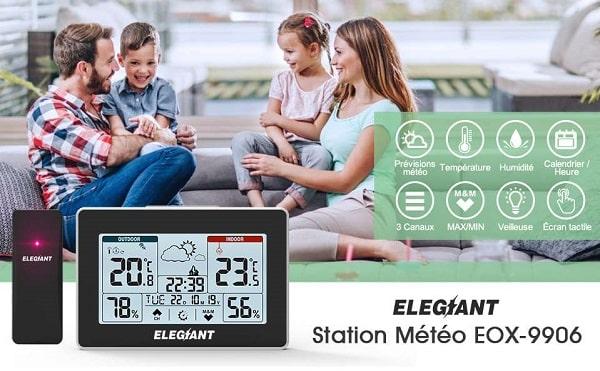 Station Météo Thermomètre Hygromètre Elegiant