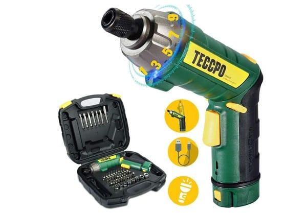 Tournevis électrique Rechargeable Teccpo 2000mah Avec 45 Accessoires