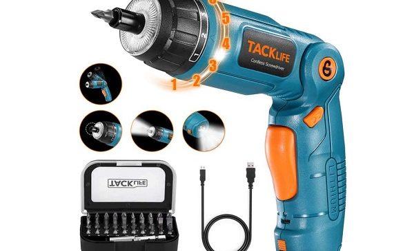 tournevis électrique tacklife sdh13dcb avec 31 accessoires