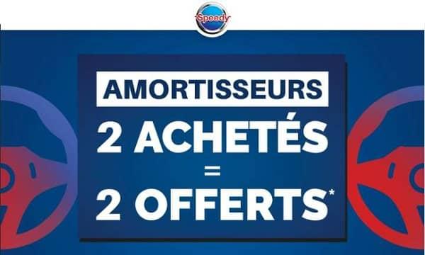 2 Amortisseurs Achetés = 2 Amortisseurs Offerts Avec Speedy