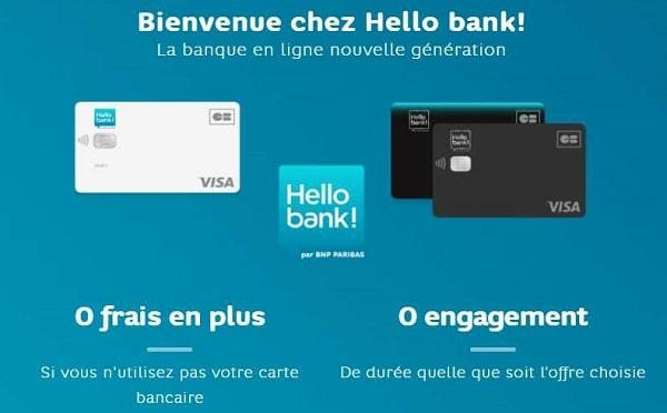 80 euros offerts + carte visa gratuite pour l'ouverture d'un compte hello bank