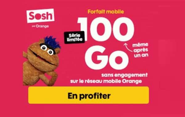 Forfait Série Limitée Sosh 100go Et15go En Europe