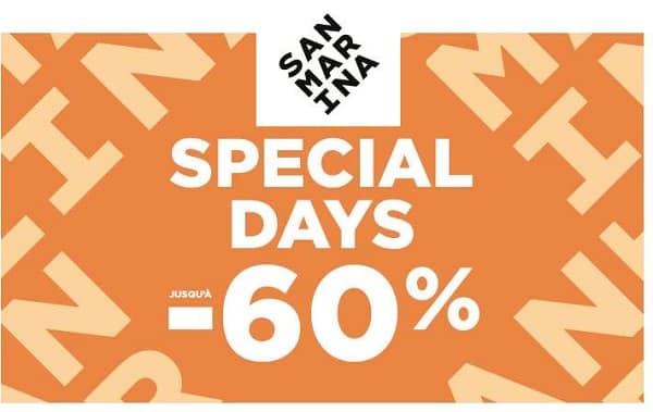 Les Avant Soldes San Marina Avec Jusqu'à 60% Pour Les Special Days