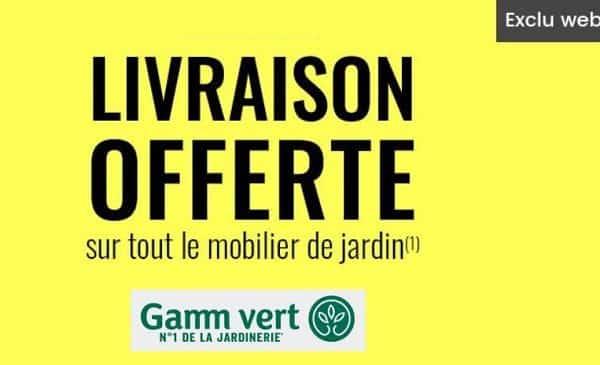 Livraison Gratuite Sur Les Commandes De Mobilier De Jardin Sur Gamm Vert