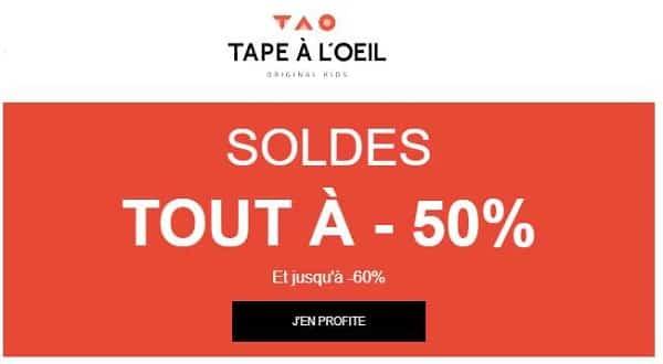 Maintenant Minimum 50% Sur Les Soldes Tape à L'œil