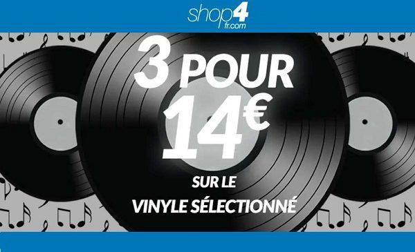 Offre Spéciale Vinyle Sur Shop4 3 Disques Vinyle Pour 14€