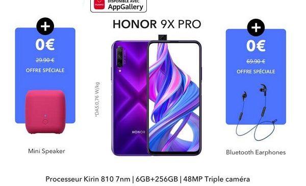 Smartphone Honor 9x Pro (6go+256go) écouteur Bluetooth Honor Enceinte Bluetooth Honor
