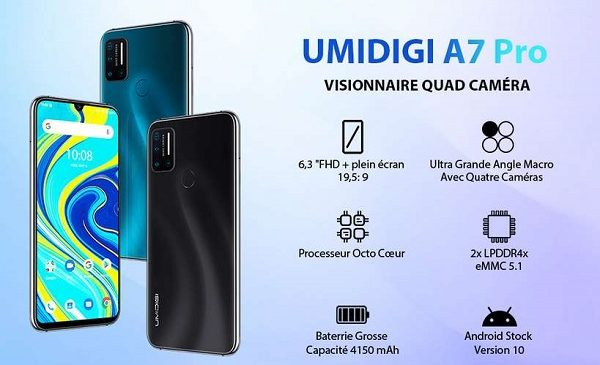 Smartphone Umidigi A7 Pro 4go 128go