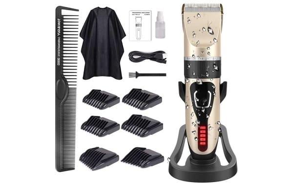 tondeuse cheveux et barbe pro rechargeable avez affichage purkoo