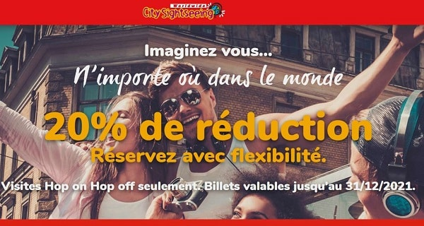 20% De Remise Sur Les Billets Bus City Sightseeing Hop On Hop Off