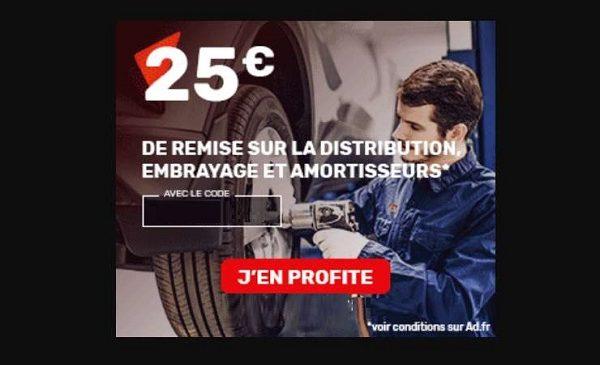25€ De Remise Dans Un Garage Ad Sur Les Prestations Distribution, Embrayage Et Amortisseurs