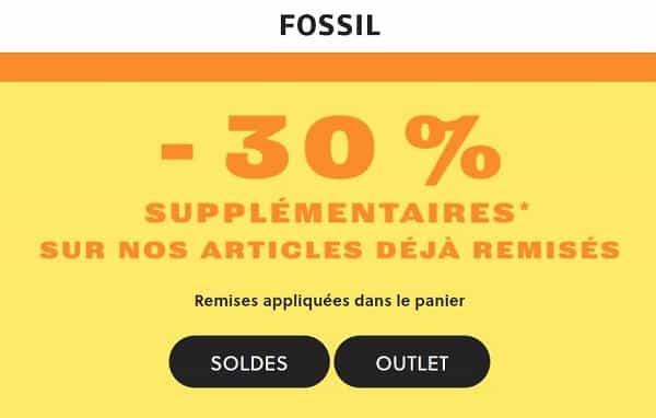 30% De Remise Supplémentaire Sur Les Soldes Fossil