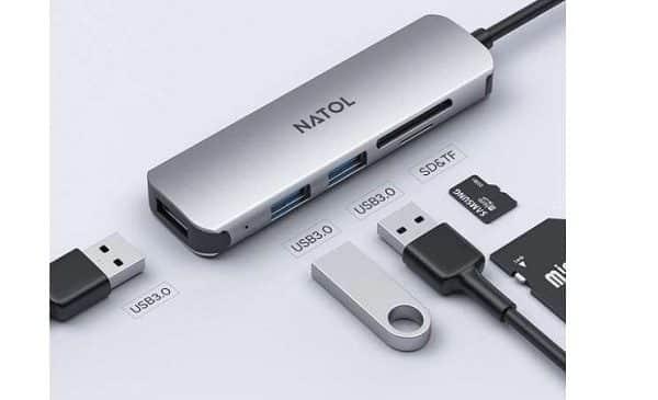HUB USB C Slim 5 en 1 NATOL NC-C01