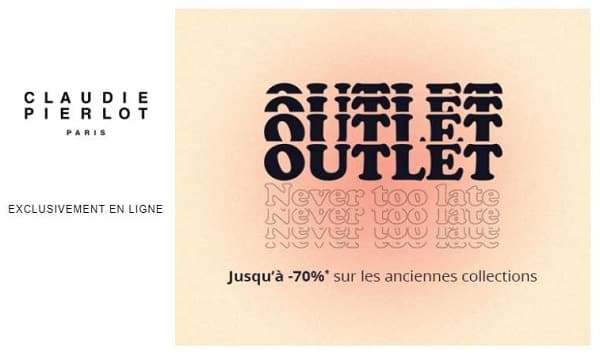 Offre Outlet Claudie Pierlot Paris