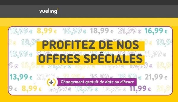 Offre Spéciale Vueling Billet à Partir De 9,99€