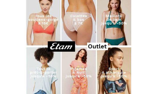Outlet Etam Les Bonnes Affaires Dans Le Rayon Mode, Lingerie Et Bain