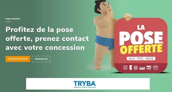 Porte, Volet, Fenêtre Tryba = La Pose Est Offerte Pour Toute Commande (devis En Ligne)