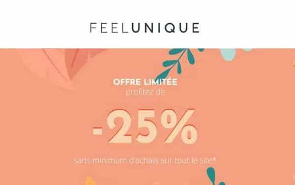 Remise De 25% Sans Minimum D'achat Sur Tout Le Site Feel Unique