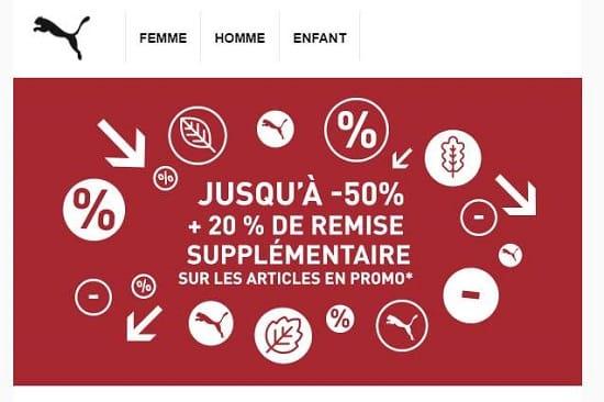 Soldes Puma 20% Supplémentaires Sur Tous Les Articles Démarqués