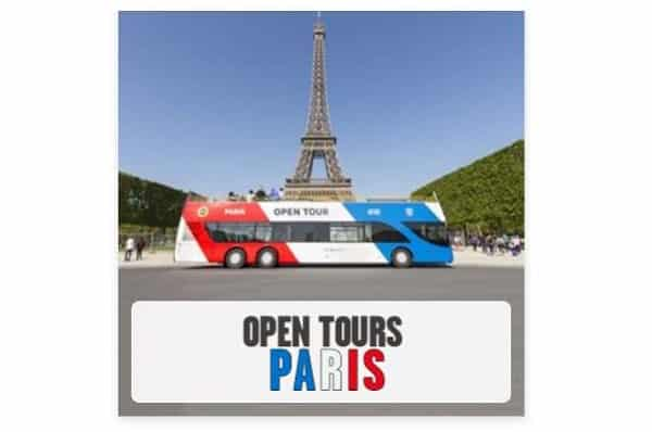 Ticket Bus Open Tour Paris à Tarif Réduit