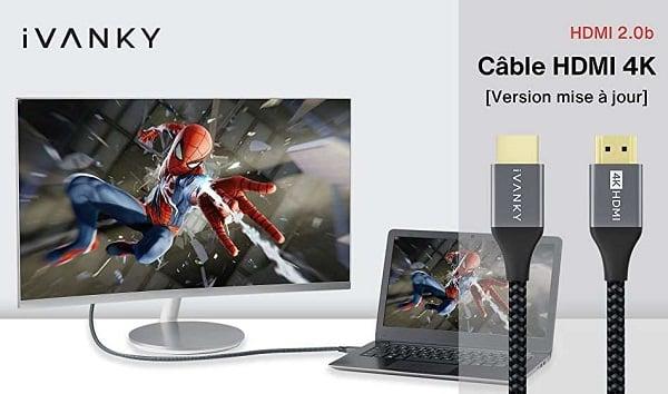 Câble Hdmi 4k Ultra Hd Certifié De 2 Mètres Ivanky