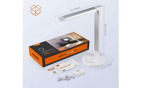 Lampe De Bureau Led Pliable 7 Niveau Luminosité 5 Modes Taotronics Tt Dl13