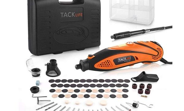 outil multifonctions rotatif tacklife + 80 accessoires rtd35acl