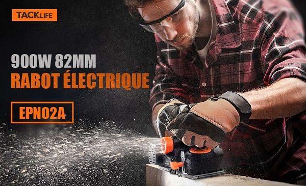 Rabot électrique 90w Avec Sac à Poussières Tacklife Epn02a