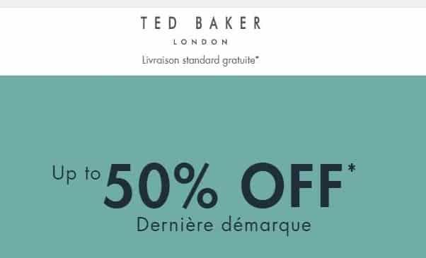 Reduction En Plus Sur Les Soldes De Fin De Saison Ted Baker