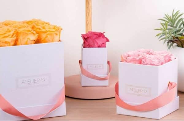 Remise Sur Atelier19 Box Et Bouquet De Fleurs Séchéesetroses éternelles