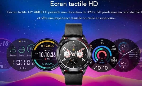 Smartwatch Watch Magic Honor Couleur Meteorite Black