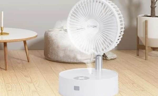 Ventilateur Humidificateur Télescopique Portable Avec Télécommande Aihom