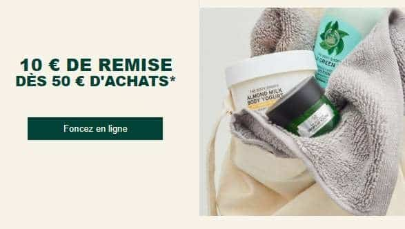 10€ De Reduction Sur Votre Commande The Body Shop