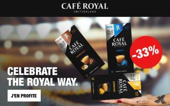 3 Boîtes De Capsules Café Royal Compatibles Avec Nespresso