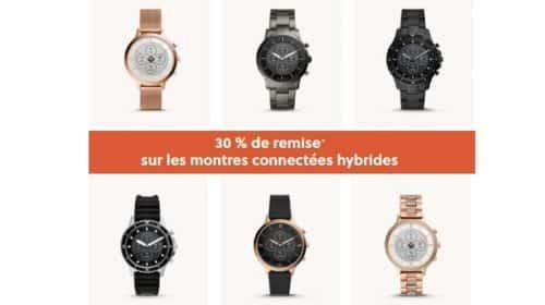30 % De Reduction Sur Les Montres Connectées Hybrides Fossil
