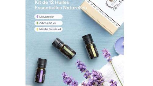 Anjou Huiles Essentielles 100% Naturelle 12 X 5ml 4 X Lavande, 4 X Menthe Poivré, 4 X Thé