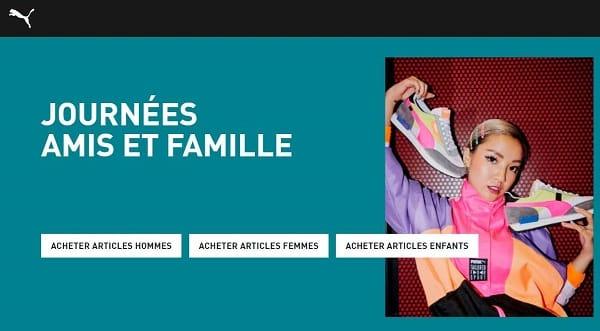 friends & familly remise sur tout le site puma meme promotion