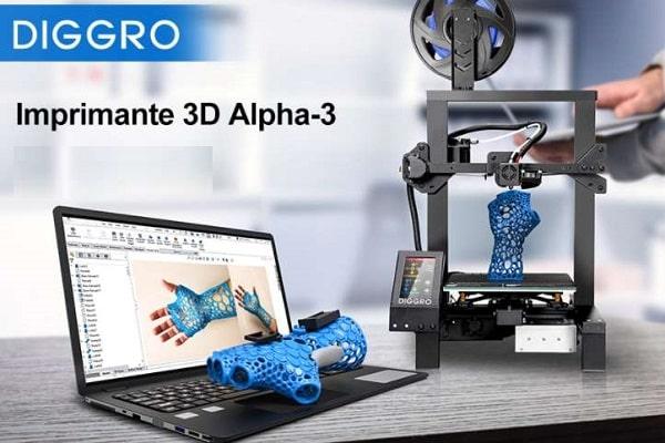 Imprimante 3d Diggro Alpha 3