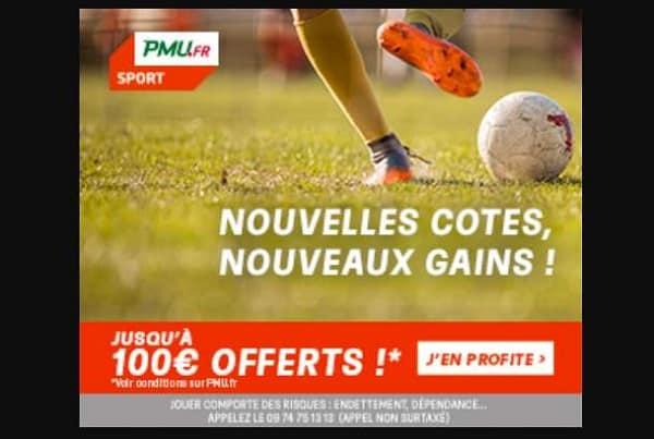 Jusqu'à 100€ Remboursés Sur Vos Paris Sportifs Si Perdus Sur Pmu