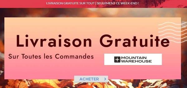 Livraison Gratuite Sur Toutes Les Commandes Sur Mountain Warehouse