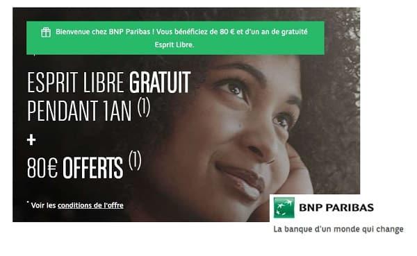 Offre Spéciale Ouverture Compte Bnp Paribas 80€ Offerts Un An De Gratuité Essentiels Esprit Libre
