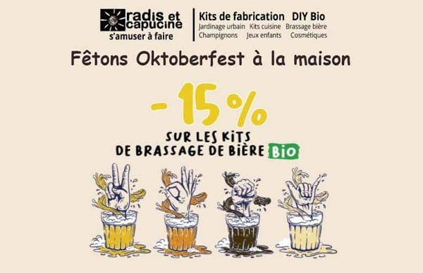 Oktoberfest : 15% de remise sur ces kits de brassage de bière BIO DIY Radis & Capucine