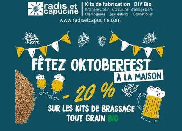 Oktoberfest Remise Sur Ces Kits De Brassage De Bière Bio Diy Radis & Capucine