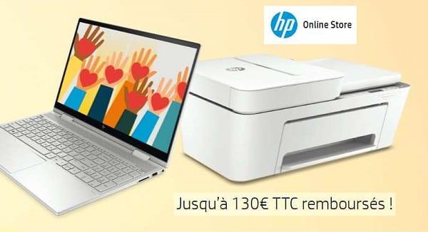 Rentrée Solidaire Hp Jusqu'à 130€ Ttc Remboursés Sur Hewlett Packard