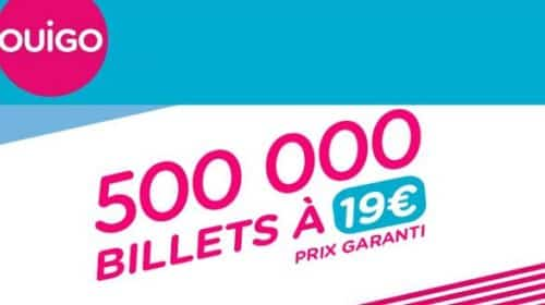 Vente Flash Ouigo 500 000 Billets Au Prix De 19 €