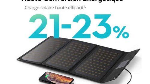 Chargeur Panneau Solaire 21w Ravpower Rp Pc118