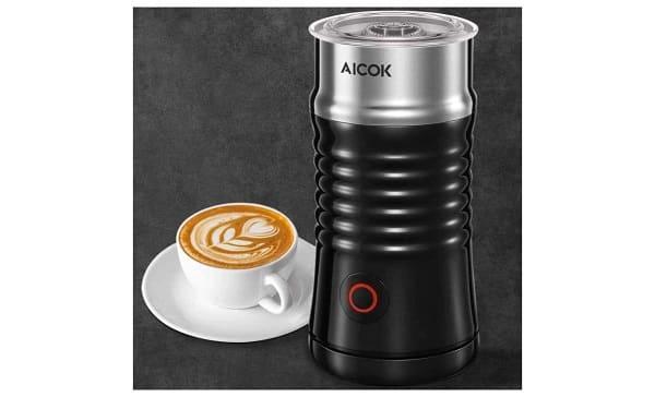 Mousseur à Lait électrique Aicok Pour Cappuccino, Macchiato, Latte