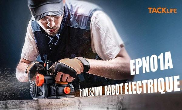Rabot électrique Tacklife Epn01a 710w Avec Guide Et Sac à Poussières