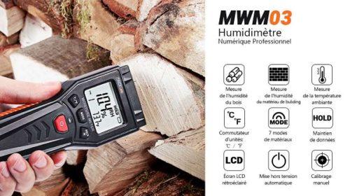 Testeur Humidité Digital Tacklife Mwm03